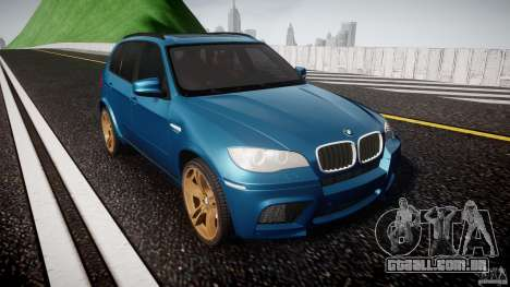 BMW X5 M-Power wheels V-spoke para GTA 4 vista de volta