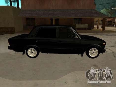 21065 v 2.0 VAZ para GTA San Andreas traseira esquerda vista