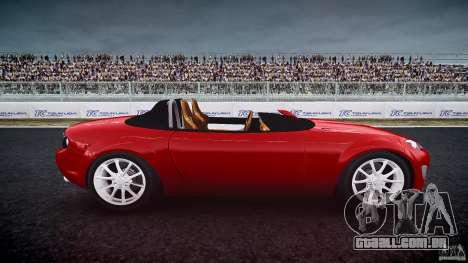 Mazda Miata MX5 Superlight 2009 para GTA 4 vista interior