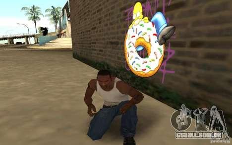 Homer Graffiti Mod para GTA San Andreas terceira tela
