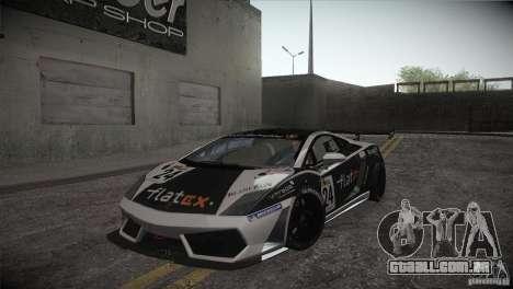Lamborghini Gallardo LP560-4 GT3 para vista lateral GTA San Andreas