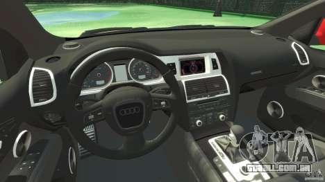 Audi Q7 v12 TDI para GTA 4 vista de volta