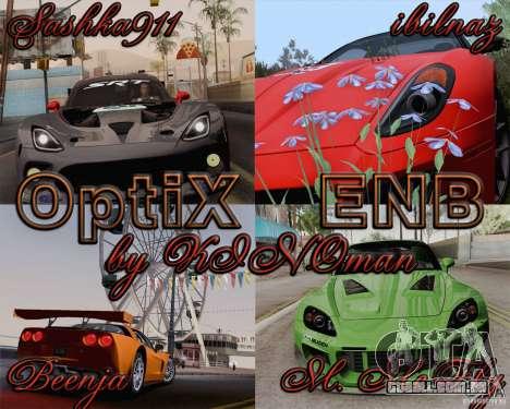 Optix ENBSeries para PC poderoso para GTA San Andreas