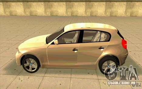 BMW 118i para GTA San Andreas esquerda vista