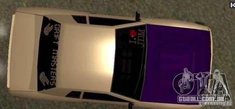 Elegy Drift Masters Final para GTA San Andreas vista direita
