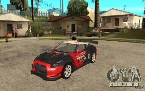 Nissan GT R Shift 2 Edition para GTA San Andreas esquerda vista