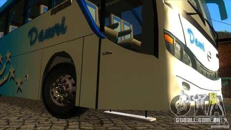 Hino New Travego RK1 para vista lateral GTA San Andreas