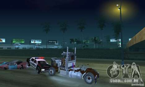 Peterbilt 289 para vista lateral GTA San Andreas