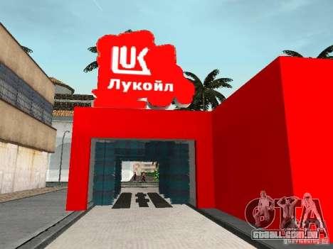 Posto de gasolina Lukoil para GTA San Andreas sétima tela