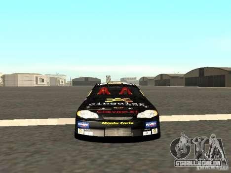 Chevrolet Monte Carlo Nascar CINGULAR Nr.31 para GTA San Andreas vista traseira