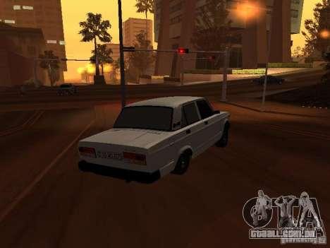 VAZ-2107 full Azeri para GTA San Andreas traseira esquerda vista