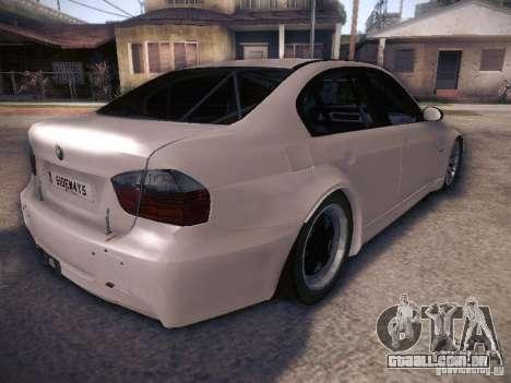 BMW 320SI Drift para GTA San Andreas vista traseira