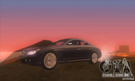 Mercedes-Benz CLS AMG para GTA San Andreas vista traseira
