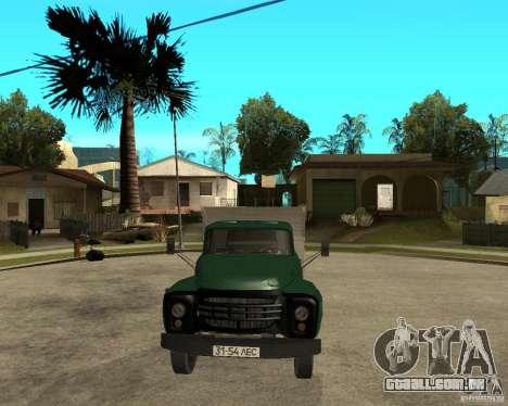 Caminhão ZIL 133 para GTA San Andreas vista traseira