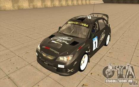 Subaru Impreza WRX STi com novo vinil original para GTA San Andreas