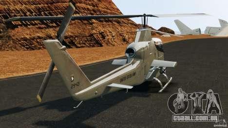 Bell AH-1 Cobra para GTA 4 traseira esquerda vista