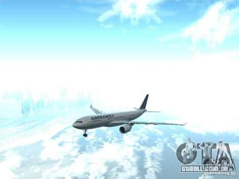 Airbus A330-200 Air France para GTA San Andreas vista traseira