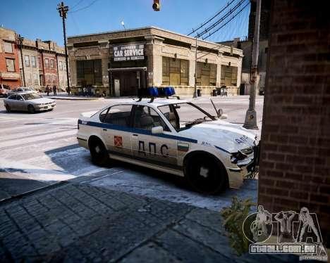 Russian Police Patrol para GTA 4 vista de volta