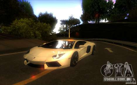 Lamborghini Aventador LP700-4 para GTA San Andreas vista traseira