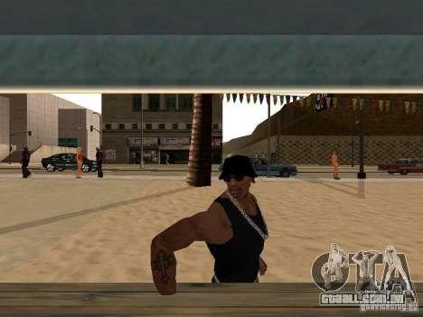 Mercado na praia para GTA San Andreas por diante tela