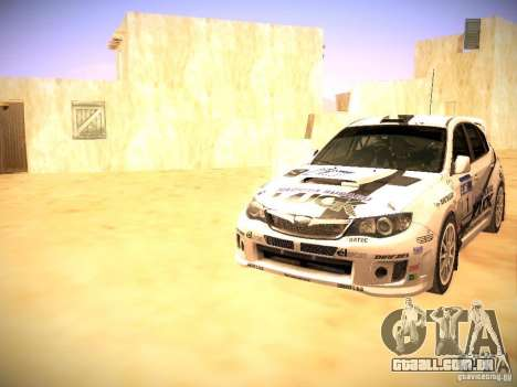 Subaru impreza Tarmac Rally para o motor de GTA San Andreas