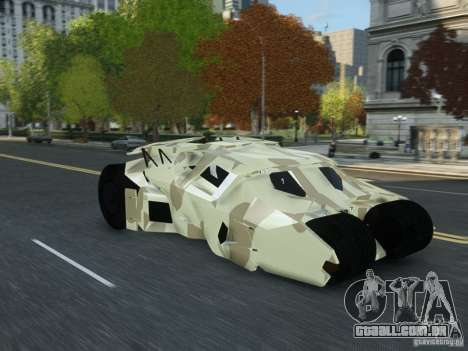 HQ Batman Tumbler para GTA 4 vista direita