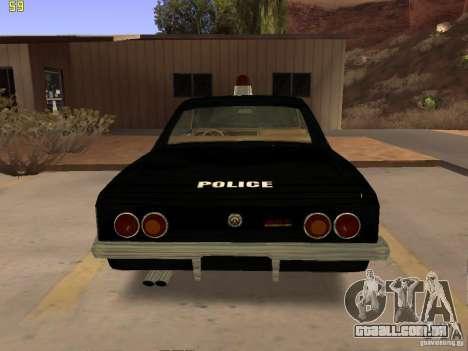 Chevrolet Opala Police para GTA San Andreas vista direita