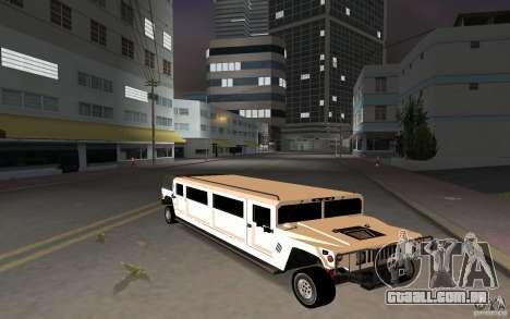 HUMMER H1 limousine para GTA Vice City deixou vista