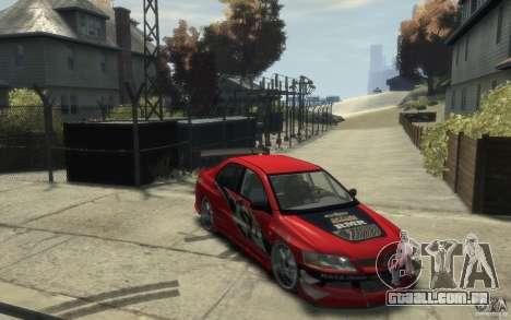 Mitsubishi Lancer para GTA 4 vista de volta