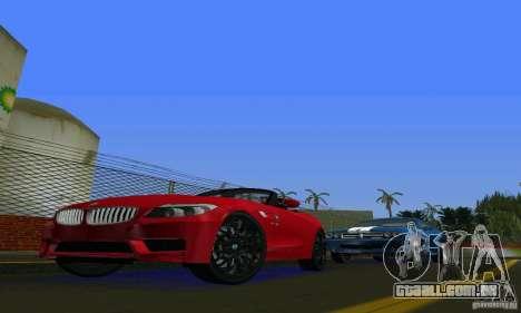 BMW Z4 V10 2011 para GTA Vice City deixou vista