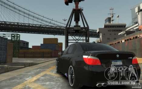 BMW M5 Hamman para GTA 4 traseira esquerda vista