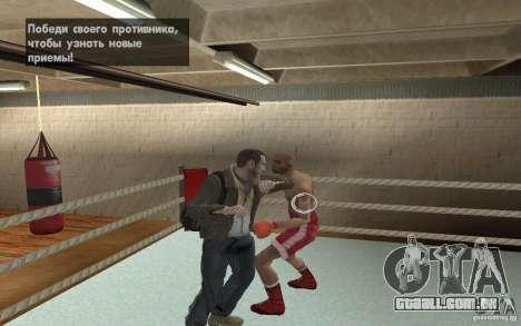 O sistema de luta do GTA IV V 3.0 para GTA San Andreas quinto tela