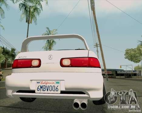Acura Integra para GTA San Andreas vista traseira