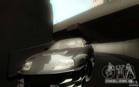 Toyota Supra Chargespeed para GTA San Andreas interior