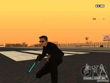 Blue Weapon Pack para GTA San Andreas segunda tela