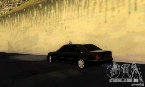 Mercedes-Benz W140 S600 Long Deputat Style para GTA San Andreas esquerda vista