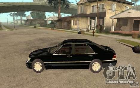 Mercedes-Benz S600 V12 W140 1998 V1.3 para GTA San Andreas esquerda vista