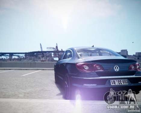 Volkswagen Passat CC para GTA 4 traseira esquerda vista