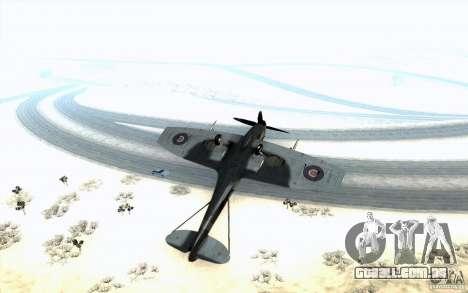 Spitfire para GTA San Andreas vista interior