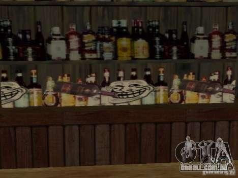 Bar de merda Sim para GTA San Andreas segunda tela