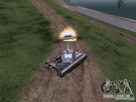 VII PZ II tigre tigre real VIB para GTA San Andreas vista traseira