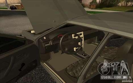 VAZ-2109 para GTA San Andreas traseira esquerda vista