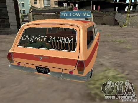 GAZ-24 Volga AEROFLOT 02 para GTA San Andreas traseira esquerda vista