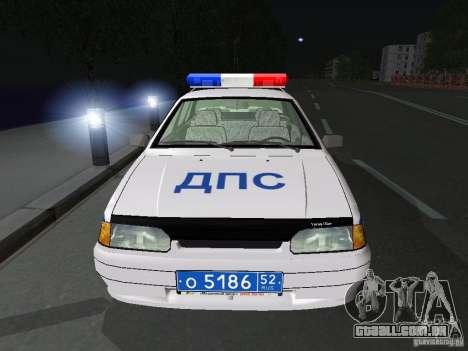VAZ 2115 polícia DPS para GTA San Andreas vista interior