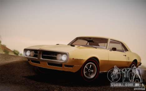 Pontiac Firebird 400 (2337) 1968 para GTA San Andreas vista traseira