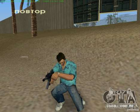 M4 de Counter Strike Source para GTA Vice City por diante tela