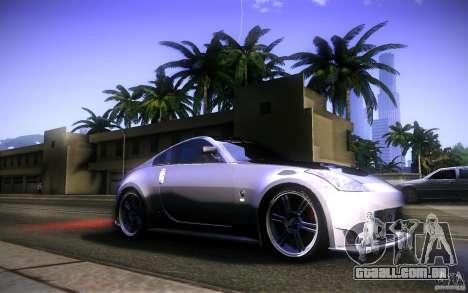 Nissan 350Z Fairlady para GTA San Andreas vista inferior