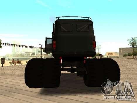 Uaz Monster para GTA San Andreas traseira esquerda vista
