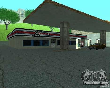Novo Xoomer. posto de gasolina novo. para GTA San Andreas segunda tela