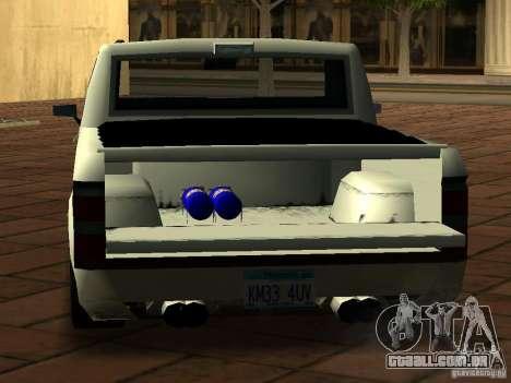 New Tuned Bobcat para GTA San Andreas vista traseira